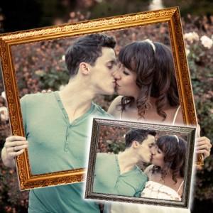 Hochzeits-Bilderrahmen der Trauzeugin