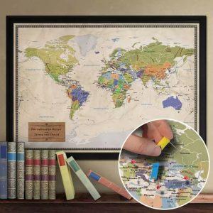 Weltkarte als Trauzeugin Geschenk