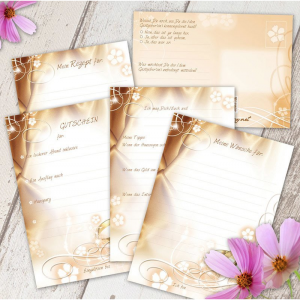 Hochzeitsgeschenk Wochenkarten von der Trauzeugin